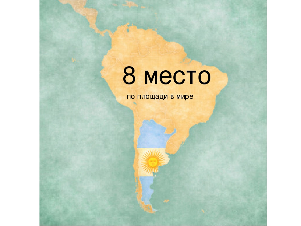 8 место по площади в мире