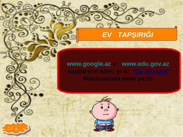 Qarayeva Amaliya EV TAPŞIRIĞI www.google.az və www.edu.gov.az saytlarının köm...