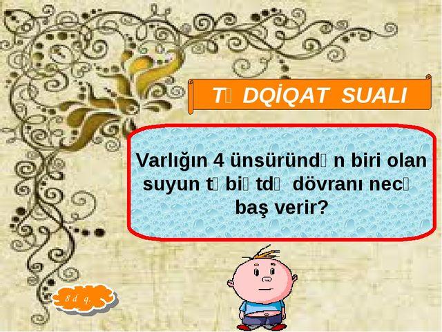 Qarayeva Amaliya TƏDQİQAT SUALI Varlığın 4 ünsüründən biri olan suyun təbiətd...