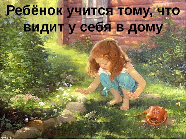 Ребёнок учится тому, что видит у себя в дому