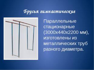 Брусья гимнастические Параллельные стационарные (3000х440х2200 мм), изготовле