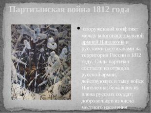 Партизанская война 1812 года вооруженный конфликт междумногонациональной арм