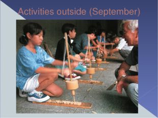 Activities outside (September)