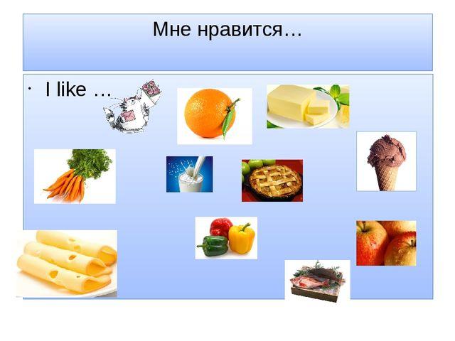 Мне нравится… I like …