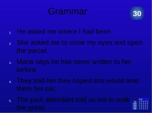 """Grammar: """"Make correct sentences from the words given below."""" presents – his"""