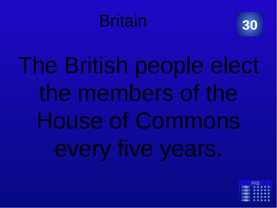 Britain The British people elect the members of the House of Commons every fi...