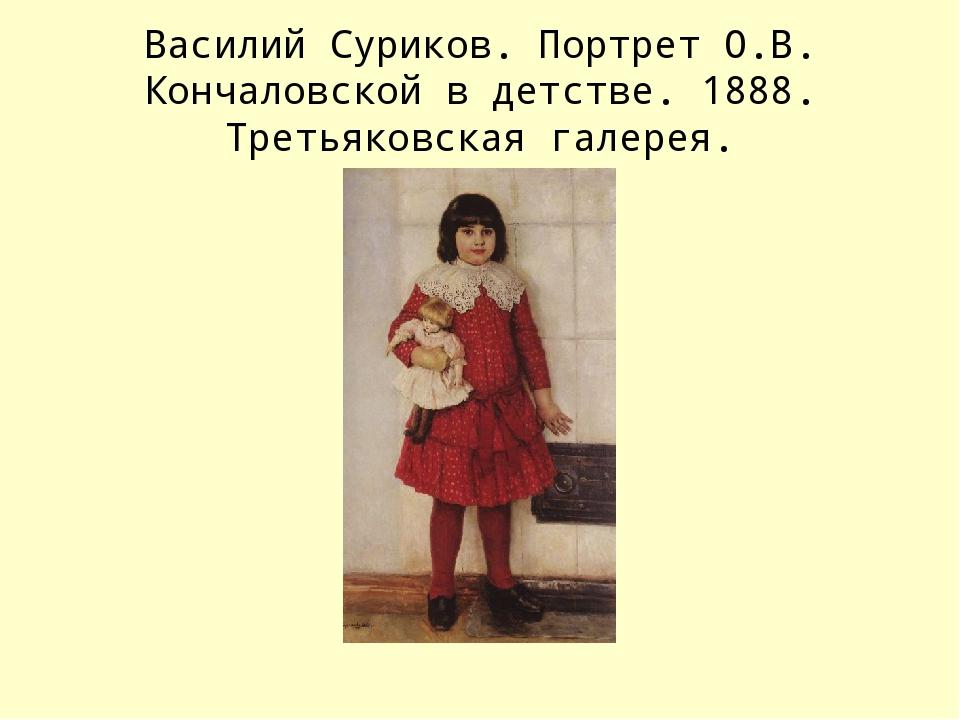 Василий Суриков. Портрет О.В. Кончаловской в детстве. 1888. Третьяковская гал...