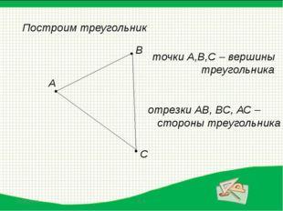 Первое свойство треугольника: «Сумма двух сторон треугольника всегда больше т