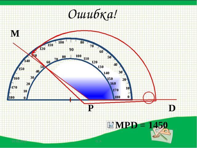 М D Р Ошибка! MPD = 500