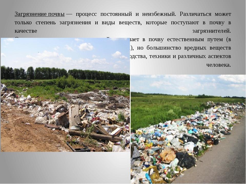 Реферат по теме загрязнение почвы 867