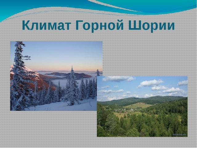 Климат Горной Шории