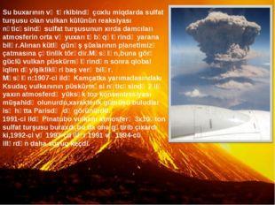 Su buxarının və tərkibində çoxlu miqdarda sulfat turşusu olan vulkan külünün