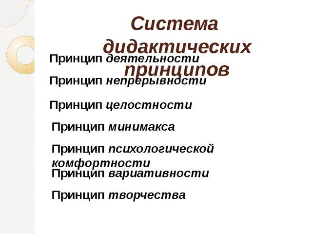 2) Принцип непрерывности – означает преемственность между всеми ступенями и...