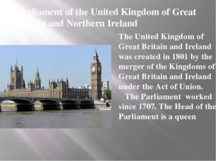 Parliament of the United Kingdom of Great Britain and Northern Ireland The Un