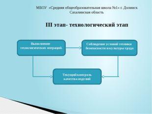 МБОУ «Средняя общеобразовательная школа №1» г. Долинск Сахалинская область II