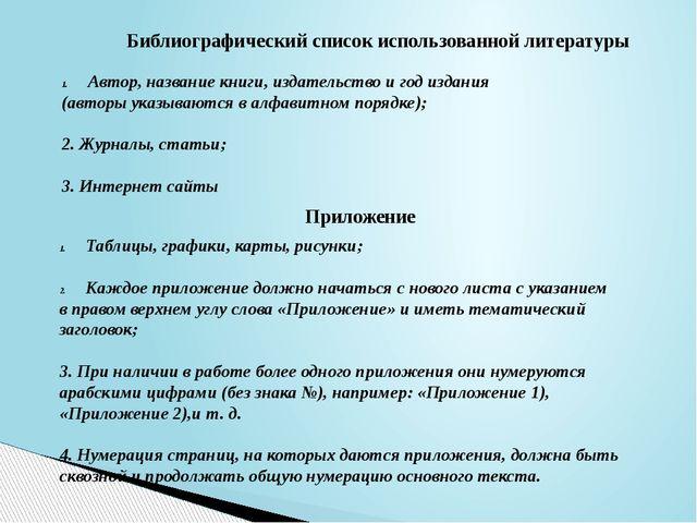 Библиографический список использованной литературы Автор, название книги, изд...