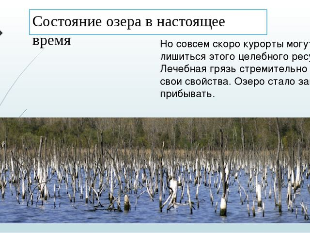 Состояние озера в настоящее время Но совсем скоро курорты могут лишиться этог...