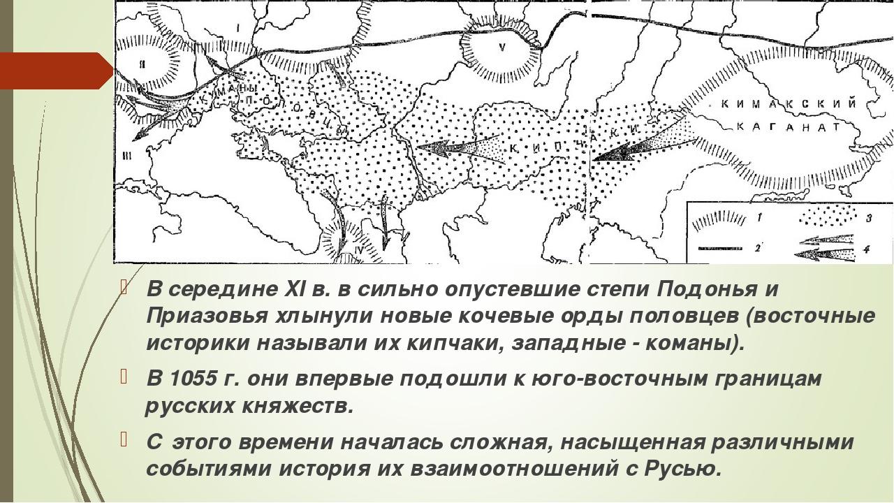 В середине XI в. в сильно опустевшие степи Подонья и Приазовья хлынули новые...