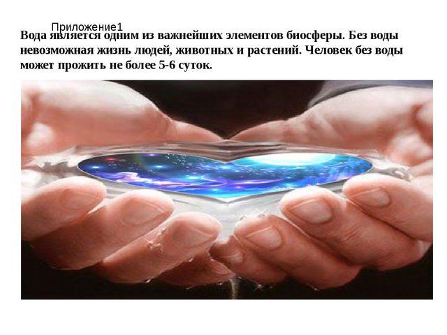 Вода является одним из важнейших элементов биосферы. Без воды невозможная жиз...