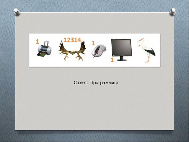 Ответ: Программист