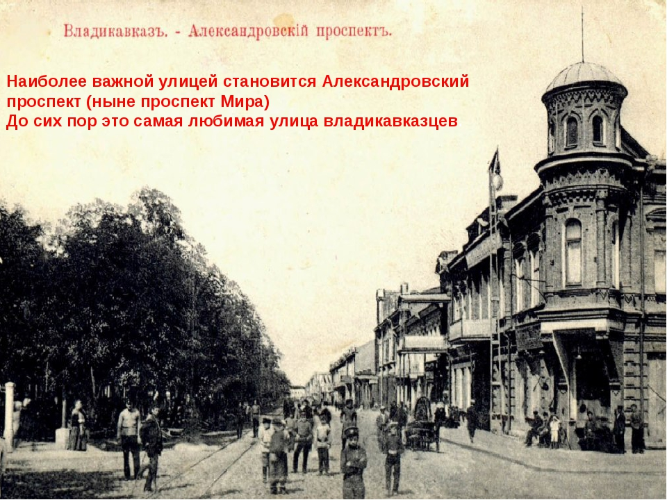Наиболее важной улицей становится Александровский проспект (ныне проспект Мир...
