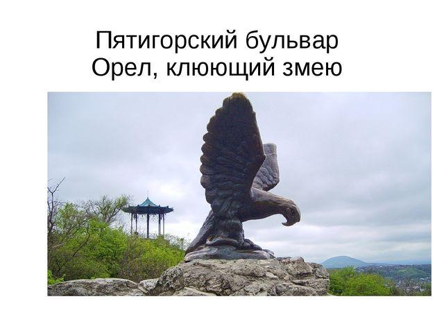 Пятигорский бульвар Орел, клюющий змею