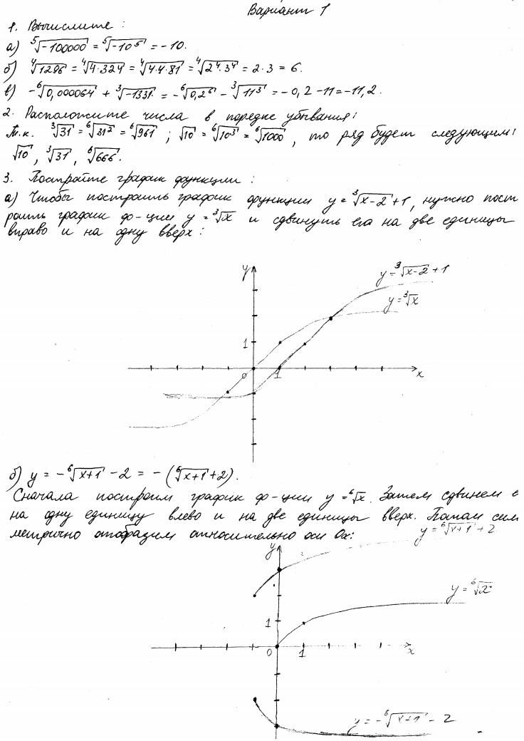 гдз по математике 11 клас мордкович контрольные задания