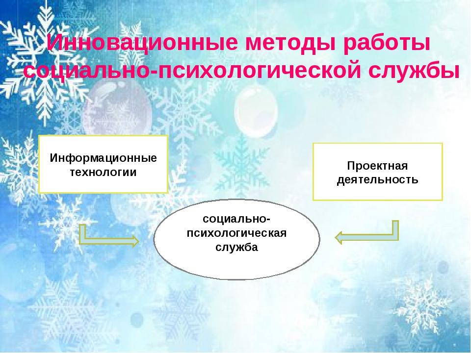 Инновационные методы работы социально-психологической службы Информационные т...
