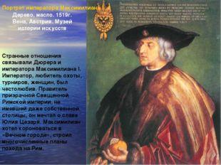 Портрет императора Максимилиана I Дерево, масло. 1519г. Вена, Австрия. Музей