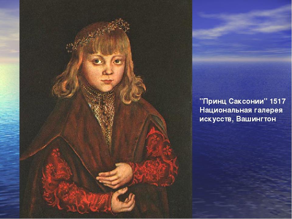 """""""Принц Саксонии"""" 1517 Национальная галерея искусств, Вашингтон"""