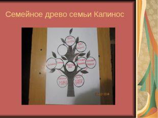 Семейное древо семьи Капинос
