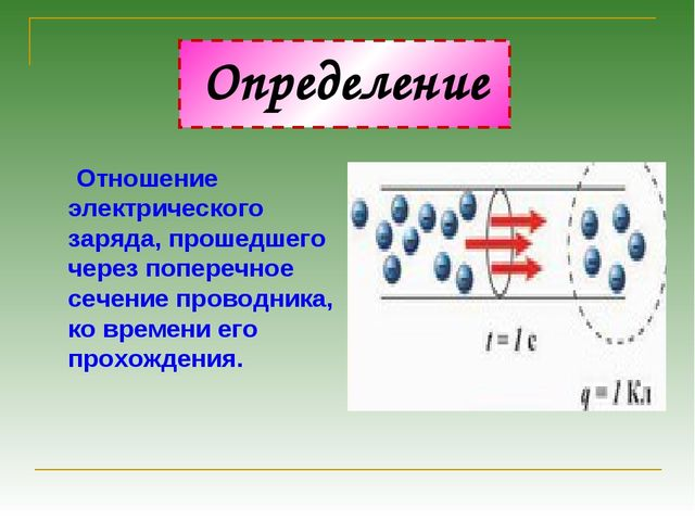 Определение Отношение электрического заряда, прошедшего через поперечное сече...