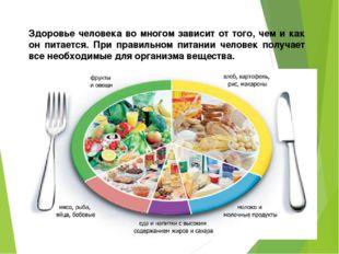 Здоровье человека во многом зависит от того, чем и как он питается. При прави