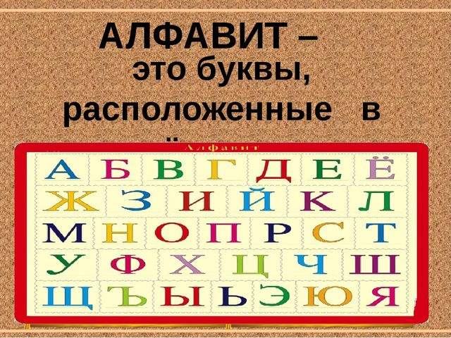 это буквы, расположенные в определённом порядке. АЛФАВИТ – corowina.ucoz.com