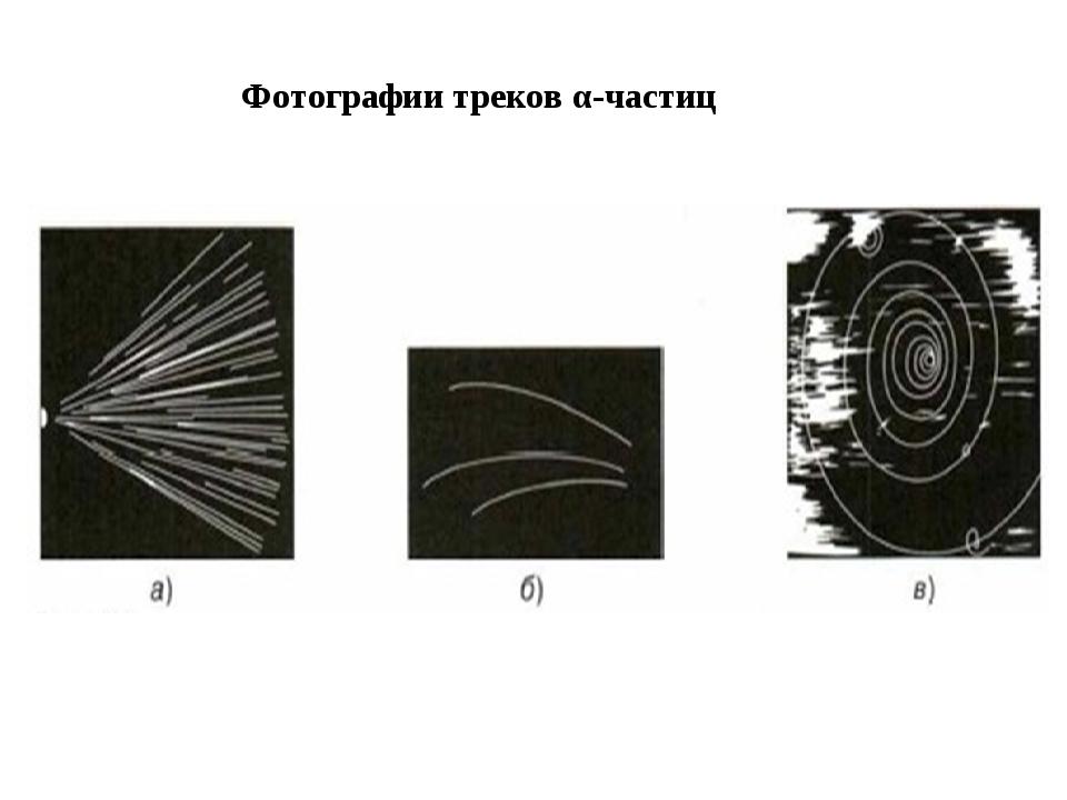 Фотографии треков α-частиц