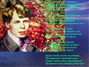 Я последний поэт деревни, Скромен в песнях дощатый мост. За прощальной стою о
