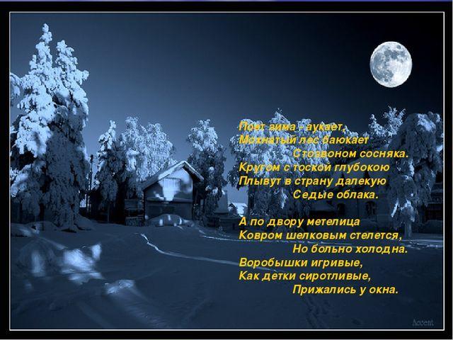 Поет зима - аукает, Мохнатый лес баюкает  Стозвоном сосняка....