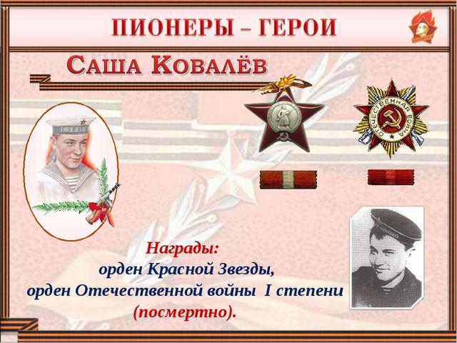 Награды: орден Красной Звезды, орден Отечественной войны I степени (посмертно).