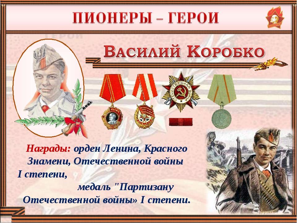 Награды: орден Ленина, Красного Знамени, Отечественной войны I степени, медал...