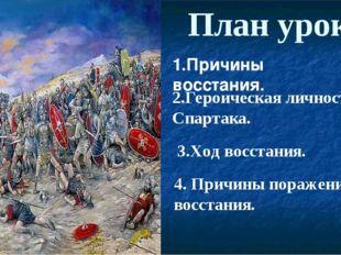 4. Причины поражения восстания. План урока 1.Причины восстания. 2.Героическая