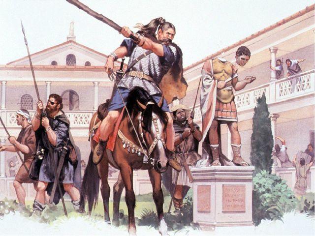 Падение Западной Римской империи В 410 году готы захватили Рим. Вечный город...