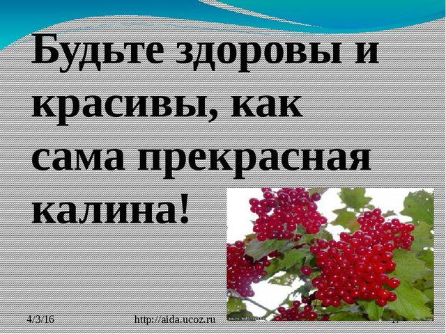 http://aida.ucoz.ru Будьте здоровы и красивы, как сама прекрасная калина!