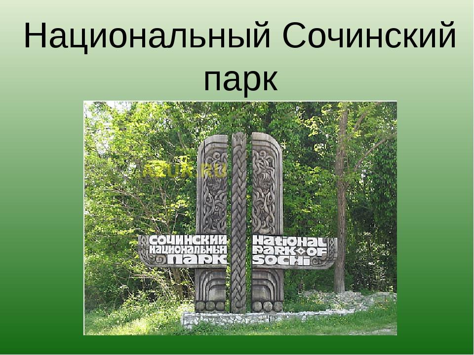 Национальный Сочинский парк