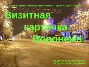 Визитная карточка Воронежа Сетевой проект «Любимое место в моём городе / A Sp