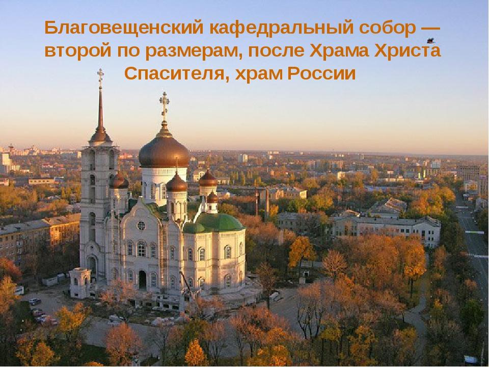 Благовещенский кафедральный собор — второй по размерам, после Храма Христа Сп...