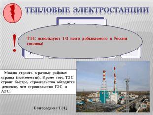 Белгородская ТЭЦ Какие преимущества при строительстве имеют ТЭС? Можно строит