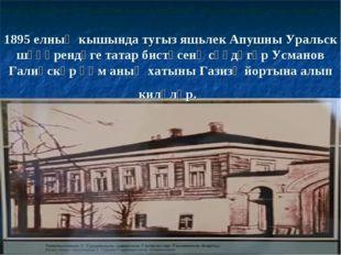 1895 елның кышында тугыз яшьлек Апушны Уральск шәһәрендәге татар бистәсенә сә