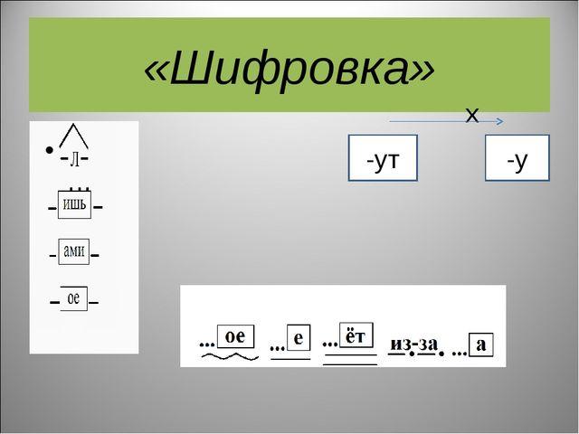 «Шифровка» х ... в … -ут -у