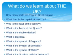 How many parts are there in Great Britain? What river is the capital situated