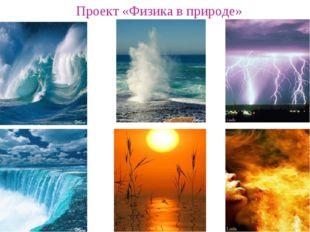 Проект «Физика в природе»